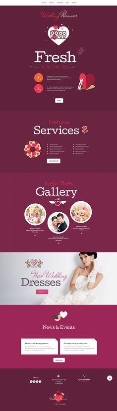 Wedding Planner WordPress Theme http://www.templatemonster.com/wordpress-themes/55043.html?utm_source=pinterest&utm_medium=timeline&utm_campaign=55043