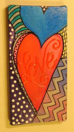heart paintings on canvas | ... www.etsy.com/listing/120267776/abstract-heart-love-painting-on-canvas