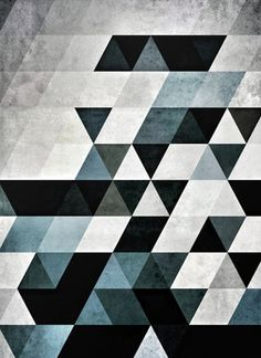 >> Geometric | Triangles | Blue <<