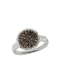 Effy Cognac and White Diamond Ring