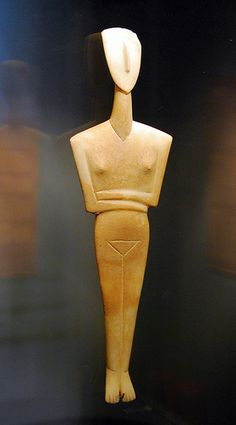 Figure Of A Woman  Cycladic Period  Syros, Crete, Greece  2500 BCE  Abstract Art
