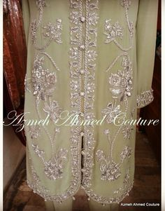 Formal Wear, Couture, Detail, Green, Silver, How To Wear, Haute Couture, High Fashion, Money