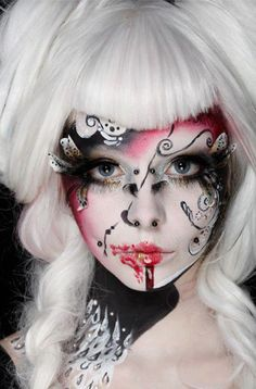 Makeup creation by Illamasqua. Love this line from the UK - Artistic Director is the incredible Alex Box!