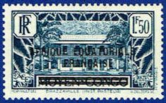 French Equatorial Africa 23 Stamp - Middle Congo Stamp - AF FEA 23-1 MH