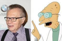 Larry King / Professor Farnsworth - Celebrities Who Look Like Iconic Cartoon Characters - Photos