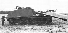 """A possibly abandoned VK 30.01 (H) """"Sturer Emil"""" that was captured intact by Allied forces"""