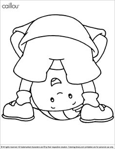 caillou coloring pages and sheets find your favorite cartoon coloring picures in the coloring library - Caillou Gilbert Coloring Pages