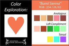Eva Maria Keiser Designs: Explore Color:  Burnt Sienna