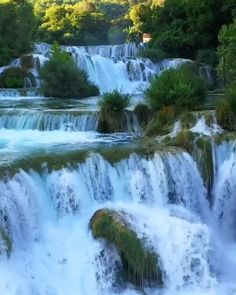 Beautiful Nature Scenes, Beautiful Photos Of Nature, Amazing Nature, Nature Photos, Beautiful Landscape Wallpaper, Beautiful Landscapes, Beautiful Landscape Photography, Krka Waterfalls, Waterfall Scenery