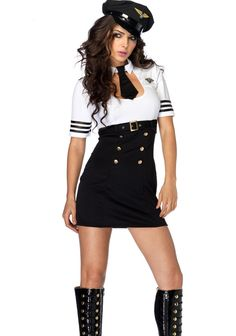 Halloween Police Woman Cosplay Costume Sexy Black And White Cop Costume For Woman Cop Costume, Police Officer Costume, Costume Sexy, Costume Dress, Pilot Costumes, Deer Costume, Cowgirl Costume, Cosplay Dress, Costumes Sexy Halloween