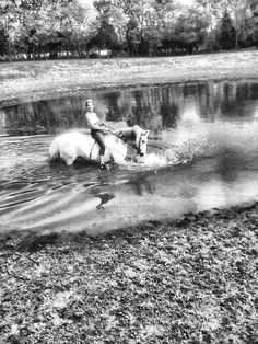 I miss the summers of swimming with my horses in Seagrove NC