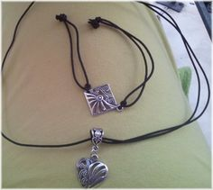 Gothic Heart Necklace and Bracelet Kολιε by ElenisLittleShop