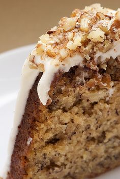 Hummingbird Bundt Cake -   Yummm…this was delicious!  A nutty banana cake.  LOVE the cream cheese frosting.