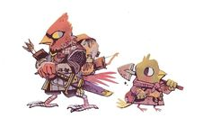 Mercenary and trench digger - Jodi Ewing Character Concept, Character Art, Concept Art, Cartoon Styles, Cute Cartoon, Character Illustration, Illustration Art, Dnd Dragons, Bird People