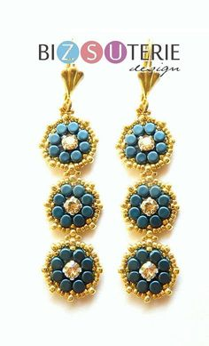 Maggie Earring - beading pattern with Minos® by Puca® beads
