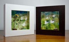 Framed papersculptures Daisy & Buttercup by Suzanne Breakwell