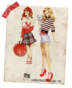 """love these retro but totally """"now"""" pin up girls!"""