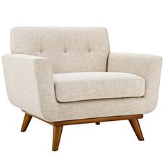 Modway EEI-1178-BEI Engage Upholstered Armchair, Beige