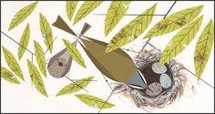 Vigilant Vireos - Charley Harper