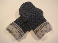 MMC0447 Grand Ledge Wool Mittens  med/lg by MichMittensbyLauri, $23.00