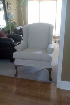 How to Recover a Wing Back Chair | Paint and Pleats