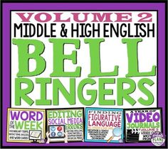 7 Bell Ringer Ideas For Middle & High School English - Presto Plans 7th Grade English, Middle School English, Education English, Teaching English, Literary Terms, 8th Grade Ela, English Lesson Plans, Grammar And Punctuation, Bell Ringers