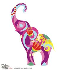 SammyJoe-colorful-elephant-tattoo.jpg (800×800)