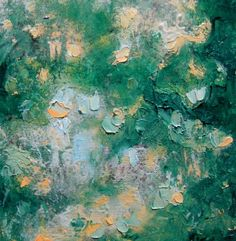 Small original semi abstract  impressionist painting by Mossmottle