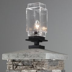 The Tower Outdoor Pier Mount by Hammerton Studio is ideal for outdoor areas already equipped with posts or piers. The classic rectangular shade is made from chilled hand-blown glass that is reminiscent of old-fashioned lanterns, and the finish options give it a modern twist. The incandescent light source provides your outdoor living space with a warm glow of light, and a simple, yet elegant design element. #NewArrivals #outdoorlighting