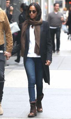 Zoe Saldana Photos: Zoe Saldana and Her Family Go Out in NYC