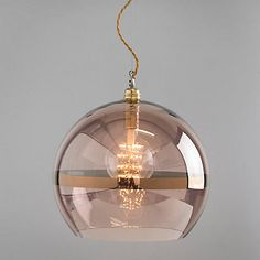 Buy Ebb & Flow Striped Rowan Pendant, Copper from our Ceiling Lighting range at John Lewis. Copper Lamps, Copper Lighting, Kitchen Pendant Lighting, Kitchen Pendants, Glass Pendants, Modern Lighting, Lighting Design, Island Lighting, Copper Lights Kitchen