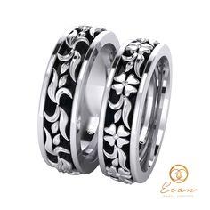 Verighete din aur alb design floral ESV23 Wedding Rings, Engagement Rings, Floral, Jewelry, Design, Fashion, Wedding, Enagement Rings, Moda
