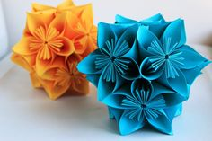 Kusudama paper flower balls  Table decor by MyWoollyMammoth, $26.00