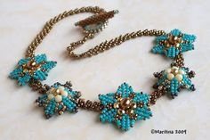 Stars?  Flowers? blue?  Easy! Oh yes!  Schema. #seed #bead #tutorial subscribe to this site for morning eyecandy.  Most projects are very doable.