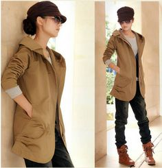 Cheap New Korean Slim long sleeve lapel zipper cotton trench coat in women outcoat from women clothing on sightface.com