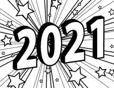 New Year Coloring Pages, Star Coloring Pages, Coloring Pages For Girls, Coloring For Kids, Coloring Sheets, Adult Coloring, New Year's Crafts, Crafts For Kids, Fill In Puzzles