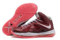 timeless design f41c7 8168b Nike LeBron X 10 Bordeaux Wolf Grey Fireberry Metallic Gold Style 542244  600 Release Onlin