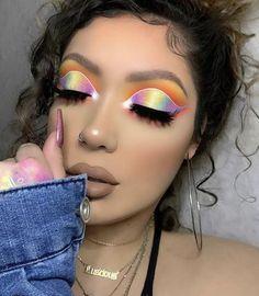 Eye Makeup Steps, Makeup Eye Looks, Eye Makeup Art, Beauty Makeup, Makeup Geek, Pastel Makeup, Colorful Eye Makeup, Simple Eye Makeup, Colorful Eyeshadow