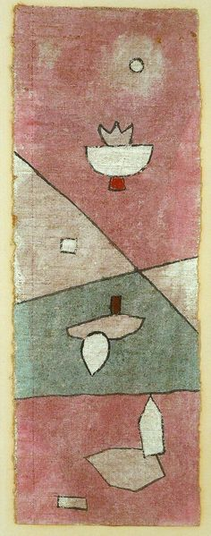 Acuarela de Paul Klee tecnica de la arpillera enyesada