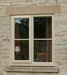 White windows are a thing of the past window ideas Double Glazed Windows Bradford, Leeds - Double Glazing Yorkshire Cottage Windows, Farmhouse Windows, Casement Windows, Windows And Doors, Wooden Windows, Cottage Exterior, Diy Exterior, Double Glazed Window, Window Styles