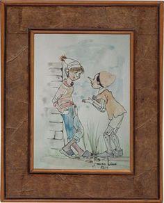 Pinocchio e Lucignolo acquerello