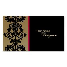 Make a terrific first impression with this Gold Elegant Business Card. Customise this design as your own just in minutes. Elegant Business Cards, Professional Business Cards, Create Your Own Business, Spa, Gold Glitter, Damask, Things To Come, Card Templates, Diy Crafts