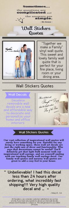 Who says that decorations cannot be useful? You'll definitely get that light bulb moment with our inspirational wall sayings, and see yourself smiling with our touching family wall sayings decal. Our family wall quotes and nursery wall quotes are great to add a cozy feel to your house.Visit our site http://decaleco.com/product-category/wall-decals-quotes/ for more information on Wall Stickers Quotes