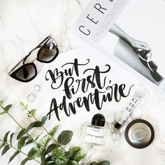 It's packing time! Getting ready for our summer adventure in Spain and can barely hold the excitement! Hand Lettered Quote | Instagram Flatlay | Pineapple Jam Design Graphic Design Studio