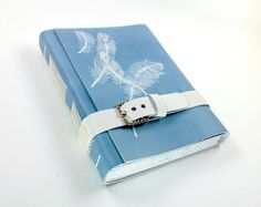 Back to School  Light Blue Leather Handmade Journal / by Baghy, $46.00    IM obsessed with notebooks! Nothing better than a well made journal.these are cute and unique