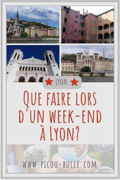 Mes conseils pour profiter au maximum de Lyon sur un week-end de 2-3 jours! Lieux à voir et petites astuces pratiques. #lyon #voyage #tourisme #visite #rhonealpes Week End France, Week End Lyon, Lyon City, Rhone, Coin, Travelling, Trips, Parents, Invitation