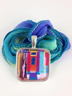 Fleurty Girl - Everything New Orleans - NOLA Colors Necklace, Fleur de Lis Door