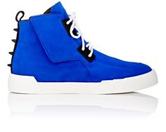 Giuseppe Zanotti Spiked-Counter High-Top Sneakers at Barneys New York