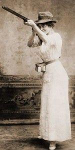 vintage look with shot gun
