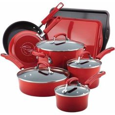 Rachael Ray Hard Enamel Nonstick 12Piece Cookware Set *** Learn more by visiting the image link. (This is an affiliate link and I receive a commission for the sales)